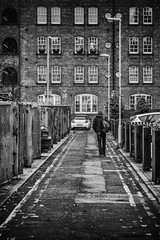 Another day, another Dollar (tootdood) Tags: canon70d blackandwhite cotton street ancoats manchester another day dollar backstreet fence windows lamposts