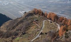 Isrables (bulbocode909) Tags: valais suisse isrables routes montagnes nature automne brume arbres forts orange vergers vert plainedurhne cabanes