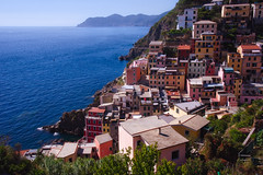 Above Riomaggiore (Jim Nix / Nomadic Pursuits) Tags: aurorahdr2017 cinqueterre europe hdr italy jimnix lightroom macphun mediterranean nomadicpursuits riomaggiore sony sonya7ii afternoon coastline colorful travel