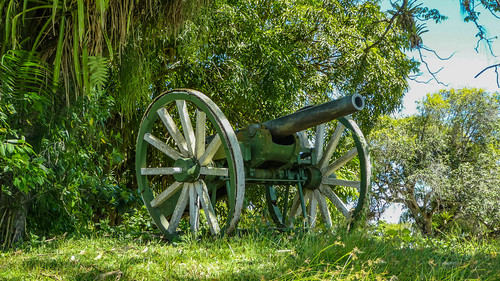 Cannon near Fort Nieuw Amsterdam in Suriname