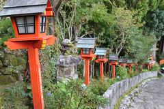 Nachi path to Grand Shrine 2 (Geoff Buck) Tags: japan shrine sacred buddhism buddhist temple buidling tree kumanokodo kumano nachi nachisan shinto worldheritagesite pilgrim pilgrimroute history worship statue statues carvings flags altar