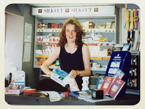 Last of today's retro photo finds: one of my many student jobs was pushing petrol and fags at the Orangery, Belper.   I also ate a lot of chocolate and crisps, rang my friends and played all the bargain CDs c1990.