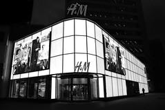 Monochrome H & M Store .... Toronto, Ontario (Greg's Southern Ontario (catching Up Slowly)) Tags: hm hmclothingstore retail retailphotography nikon nikond3200 torontoist eatoncentre blackandwhitephotography monochrome illumination shadowsandlight nightphotography stockphotography