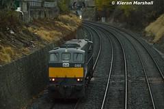 080 at The Gullet, 3/12/16 (hurricanemk1c) Tags: railways railway train trains irish rail irishrail iarnród éireann iarnródéireann 2016 thegullet dublin generalmotors gm emd 080 071