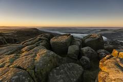 Curbar Edge (l4ts) Tags: landscape derbyshire peakdistrict darkpeak goldenhour sunrise curbaredge derwentvalley baslowedge mist smoke gritstone gritstoneedge moorland easternmoorspartnership frost