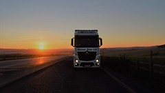 Heaver Brothers Ltd. WL13 HBL. (Drive-By Photography) Tags: heaver wl13hbl mercedes actros mp4 2545 bigspace sunset sky truck lorry hgv a303