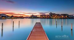 French Quarter Twilight (Beth Wode Photography) Tags: twilight goldcoast frenchquarter carrara emeraldlakes lake bluelake jetty pier blue beth wode bethwode