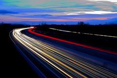 Speed of Light (Jordi sureda) Tags: light highway longexposure jordisureda catalunya colors sky exposure azul d90 nikon nikkor night