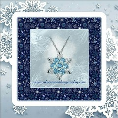 Blue Topaz Snowflake (SilverMoonBay) Tags: jewelrysales jewelryforless jewelrydeals discountjewelry trendy trendyjewelry affordablejewelry giftideas jewelrygifts holidaydeals holidaysales stockingstuffers giftsforchristmas sparkle shimmer shine crystal snowflake christmasgifts christmasjewelry