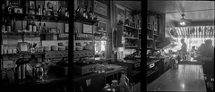 Columbian Cafe, Astoria, OR (argentography) Tags: olympuspenwpenorama panorama halfframe