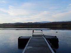 Loch Insch, near Kincraig, Nov 2016 (allanmaciver) Tags: loch insh water frozen kincraig cairngorm national park slippy pier wheels quiet still sounds cold freezing stand watch