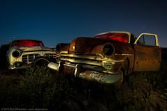 Sibling Rivalry (dejavue.us) Tags: california longexposure nightphotography lightpainting abandoned nikon fullmoon fresno junkyard nikkor d800 1835mmf3545d vle