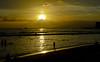 Yellow Gold (jcc55883) Tags: ocean sunset sea sky silhouette clouds hawaii nikon waikiki oahu horizon shoreline pacificocean nikond3200 d3200 kuhiobeachpark