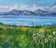 (www.sandragraham.co.uk) Tags: seascape art work painting contemporary canvas oil isle arran impressionist portencross