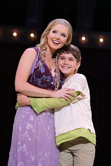 Bradley Benjamin as Catherine and Ben Krieger as Theo in the national tour of PIPPIN presented by Broadway Sacramento at the Sacramento Community Center Theater Dec. 29, 2015 – Jan. 3, 2016.  Photo by Joan Marcus.