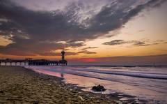 Scheveningse pier (B. Idzenga) Tags: sunset sea netherlands strand pier zonsondergang scheveningen north nederland zee noord kust