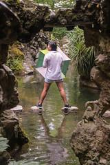 JapeneseOnTheWater (angelolimburgo) Tags: reflection portugal umbrella pond europe sintra japenese quintaderegaleira
