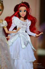 Disney bride 15 (Lindi Dragon) Tags: ariel bride doll dolls disney cinderella tiana rapunzel pocahontas disneystore disneyprincess