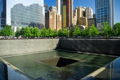 9/11 Memorial, Manhattan, New York (Vincent Lammin) Tags: nyc newyorkcity trees usa newyork fountain buildings us memorial skyscrapers manhattan worldtradecenter 911 groundzero eastcoast 911memorial tatsunis southpool