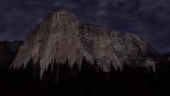 Climbing El Capitan (dharnan) Tags: california travel trees light sky mountain mountains rock night clouds stars lights climb long exposure el climbing valley yosemite climbers capitan 500px ifttt