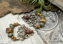 Talia - ArtJewelry (Luthien Thye) Tags: earrings ornate boho gypsy artjewelry