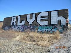 Big  Rlyeh (Randall 667) Tags: street urban art river island graffiti artist exploring alien front east providence crew lovecraft writer sole rhode outcast gdc ohmy tagger erk meks sopey drouz