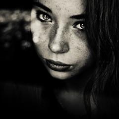 Constellation (Christine Lebrasseur) Tags: portrait people blackandwhite woman france art 6x6 sepia canon teenager fr onblack throughwindow gironde 500x500 lna saintloubes allrightsreservedchristinelebrasseur