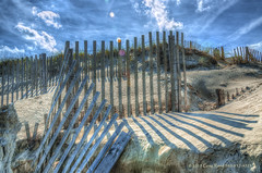 Sand Fence HDR (Greg Reed 54) Tags: ocean sea beach fence sand fences northcarolina beaches outerbanks corolla obx currituckbanksreserve