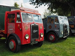Two Elderly Fodens (Ben Matthews1992) Tags: show old 1948 truck vintage wagon tipper flat cheshire rally transport historic steam og lorry commercial vehicle trucks preserved 1950 gardner preservation flatbed waggon lorries swb donaldson brs foden haulage 2015 shortwheelbase og4 astlepark 4lk 3800cc jvu332 mau840 63e248