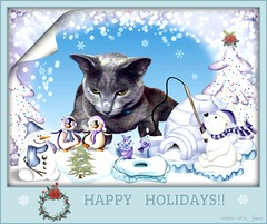 "Megumi stopped by to visit some friends to wish them ""Happy Holdays!"" (martian cat) Tags: christmas pet macro cat cards kitty newyears inspirational merrychristmas caption allrightsreserved happynewyear russianblue motivational feliznavidad megumi kittycat buonnatale motivationalposter glcklichesneuesjahr felizaonuevo bonneanne joyeuxnol kurisumasuomedeto buonanno allrightsreserved  martiancatinjapan allrightsreserved   martiancatinjapan martiancatinjapan frhlichiwiehnacht omedettogozaimasu allrightsreserved martiancatinjapan captioncollection"