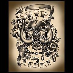 Just drew this up...#riplemmy #lemmytattoo #pooch #art #motorheadtattoo