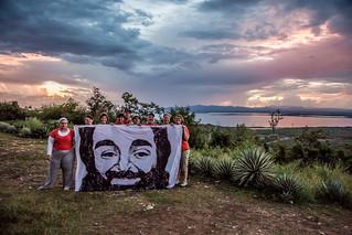 Anti-Torture Activists Hold Shaker Aamer Banner