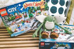 Hello (superduperwesman) Tags: christmas animal fun toy kid stuffed advent calendar lego stitch shelf elf gremlin weeglin
