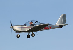G-KEJY EV-97 TeamEurostar UK, Cotswold Airport, Kemble, Gloucestershire (Kev Slade Too) Tags: gloucestershire kemble ev97 egbp teameurostar gkejy cotswoldairport