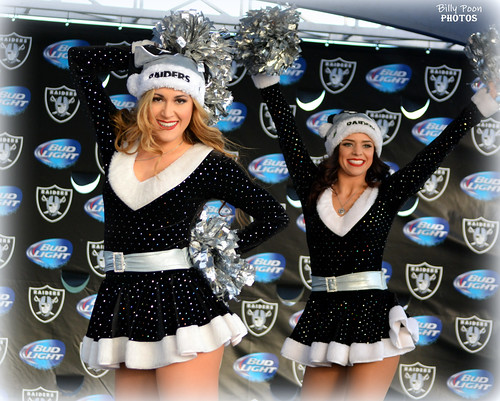 2015 Oakland Raiderettes Sarah & Kelly