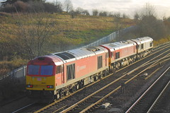 66077 + 66114 + 60020 (1) (ANDY'S UK TRANSPORT PAGE) Tags: trains chesterfield dbs class66 ews class60