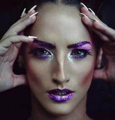 Astral (phoenixclaw) Tags: portrait art girl beauty fashion mystery glitter dark greek 50mm model nikon emotion artistic makeup greece portraiture conceptual d5100