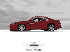 Aston Martin DB9 (Updated) (lego911) Tags: aston martin db db9 coupe 2004 vh v12 auto car moc model miniland lego lego911 ldd render cad povray lugnuts challenge lugnutsturnnine turns nine orderbynumbers anyvehiclesuitableforabondfilm spy britain british gm england bond film movie 2000s