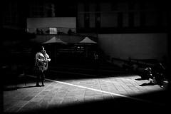 the elasticity of time (Albion Harrison-Naish) Tags: mlccentre martinplace sydney newsouthwales nsw australia streetphotography sydneystreetphotography albionharrisonnaish mobilephotography iphoneography iphone iphone5s hipstamatic akiralens blackeyssupergrainfilm jollyrainbow2xflash straightoutofcamera sooc unedited
