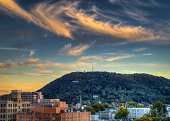 Dreamcicle Twilight Roanoke Star Mill Mountain (Terry Aldhizer) Tags: dreamcicle twilight roanoke star city mill mountain sky clouds evening buildings urban terry aldhizer wwwterryaldhizercom