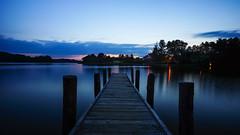 Lake jetty at night (TanzPanorama) Tags: waterscape lake night blue bluehour le pier jetty tanzpanorama sonya7ii ilce7m2 sony fe1635mmf4zaoss sel1635z travel poland kaszuby kashubia kashubianswitzerland lakedistrict calm landscape water silhouette darkness pomorze pomeranian