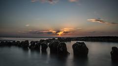 breakwater (Ha-Jue) Tags: norderney buhne sunset sonnenuntergang sigma24105 sonya99