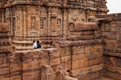 Lost in the temple (Scalino) Tags: india karnataka travel trip pattadakal heritage site chalukyas chalukya temple hindu alone empty minimal lost people stone