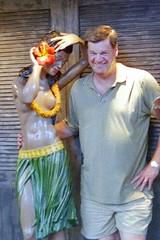 A Vahine and Me (AntyDiluvian) Tags: hawaii 2001 30thanniversary oahu honolulu kalakauaavenue internationalmarketplace me myself vahine wahine mannequin seminude