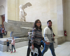 Continuity and change at The Louvre - Nike of Samothrace (bronxbob) Tags: france paris thelouvre museums artmuseums wingedvictoryofsamothrace nikeofsamothrace sculpture ancientgreekart