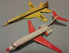 MANDARIN SST # D-26 & DC-9 # D-28 (NyamalaTone) Tags: toy airplane avion jouet juguete vintage collectible flugzeug