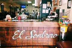 Locally Owned Store// El Sombrero (makaylarichardson) Tags: gumballmachine contrast food mexican restaurant store manhattanbeach thehat elsombrero