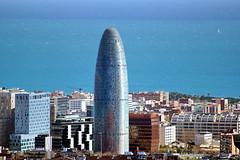 Barcelona from Parc Guell (Yuri Rapoport) Tags: themediterraneansea torreagbar parcguell 2013 barcelona catalonia spain