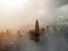 #PicOfTheDay Petronas Twin Towers (Candidman) Tags: petronas twin towers architecture kuala lumpur malaysia buildings cesar pelli 500px art nude sky city cityscape urban haze mist iphone foggy roads feature iphoneonly twintower kltower