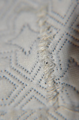 DSC_8578 (SaYuMi-87) Tags: white bianco stitch stitches cucitura cucito rammendo stoffa sewing sewn darning fabricing macro macromondays